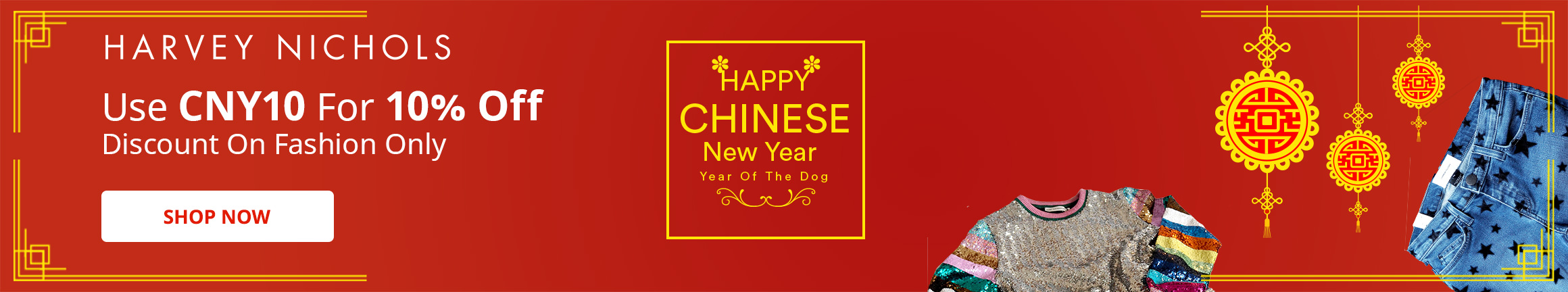 CNY 10% OFF Discount on Fashion Only